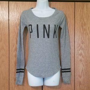 Victoria's Secret Pink Gray Thermal Shirt XS